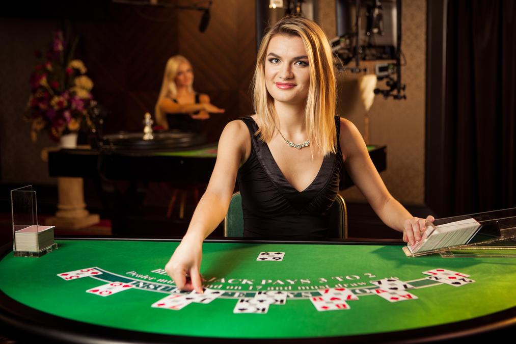 Online blackjack spelen in een Live Casino.