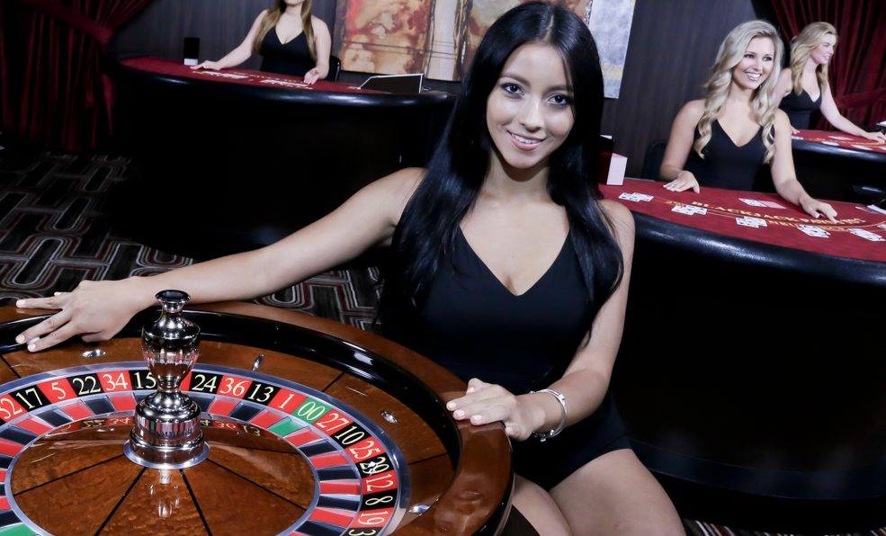 Dealers voor in een live casino
